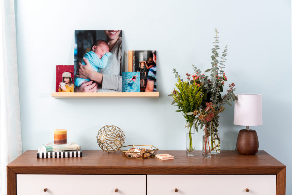 Family photos displayed on a Storyboard.