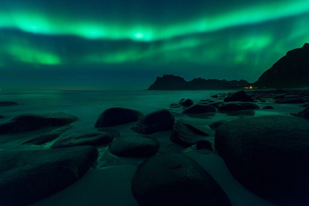 The darker it is, the better you can see the northern lights.