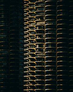 The Marina City Complex, also known as the Corn Cob Towers.