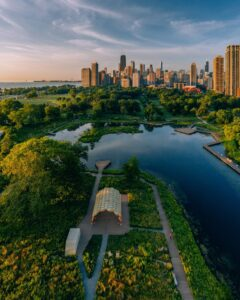 Lincoln park from above.