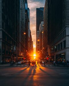 Chicagohenge during spring and fall equinoxes.