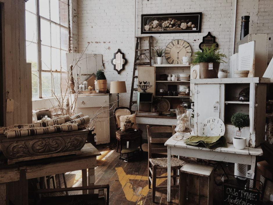 Vintage stores are a great place to find sustainable home decor.