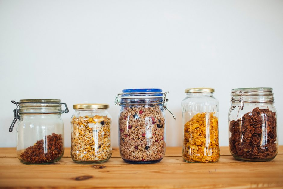 Reusable containers can also double as sustainable home decor.